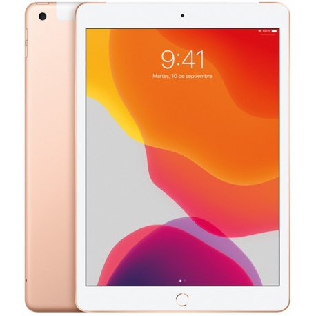 Chollo - Tablet Apple iPad Wi-Fi + Cellular 128 GB ORO 2019 iPadOS