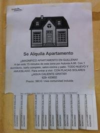 C mo hacer carteles de anuncios for Busco piso en alquiler